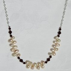 Handmade Freshwater White Pearl and by BodaciousBaubleNBead, $32.00