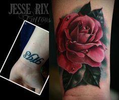 jesse rix tattoos | Paradise Tattoo Gathering : Tattoos : Jesse Rix : Pink Rose Tattoo