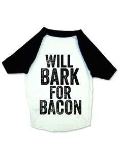 Baseball Shirt for Dogs - Bark for Bacon