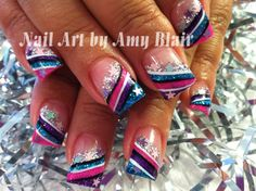 Colorful stripes and silver stars!
