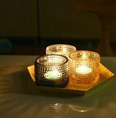 Iittala´s Kastehelmi candleholders