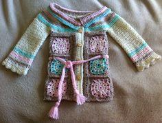 Saco en crochet para nena de 1 año y medio