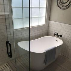 "WoodBridge 54"" x 29"" Freestanding Soaking Bathtub & Reviews | Wayfair"