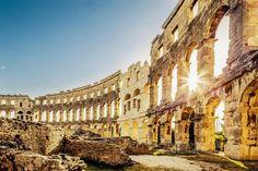 Das Amphitheater von Pula,Croatia
