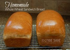 Homemade Whole Wheat Sandwich Bread Recipe: this recipe is DELICIOUS and so easy to make, especially if you have a Kitchen Aid stand mixer.