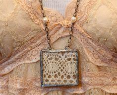 Antique Lace Pendant Necklace