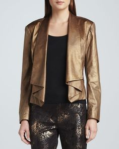 Berek Moonraker Faux-Leather Jacket, Women's from Neiman Marcus on shop.CatalogSpree.com, your personal digital mall.