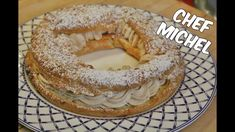 Paris-Brest with Thermomix - - Lidl, French Deserts, Dessert Thermomix, Bagel Recipe, Eclairs, Easy Desserts, Holiday Recipes, Cooking, Food
