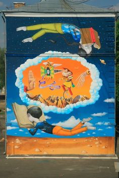 Interesni Kazki & Seth (The Globepainter) #seth #interesnikazki #streetart