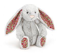 Blossom Bashful Silver Bunny Hase Kuscheltier von Jellycat - Bonuspunkte sammeln, auf Rechnung bestellen, DHL Blitzlieferung!