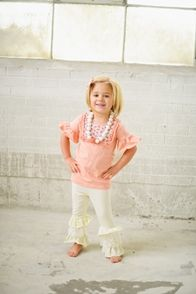White Ruffle Leggings on sale for $5, that's 85% off! Only size 10 left. Hurry before they're gone. #kidsfashion #hotbuy