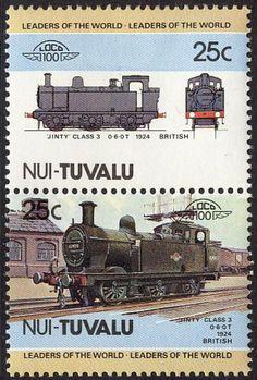 "1984 Tuvalu, Nui #8, pair -  Leaders of the World. Locomotive. 1924 ""Jinty"" Class 3, United Kingdom. Tuvalu design A36."