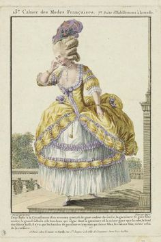 Gallerie des Modes, 1778. (French 18th Century Fashion Plate)