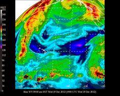 #UHManoa #Hawaii #Meteorology #Weather #Temp 75F #RH 76% #Winds E 15mph G 24mph #PartlySunny #Maui