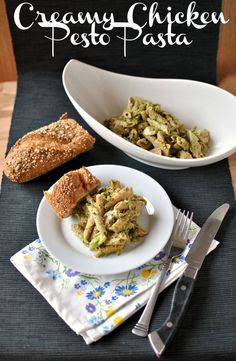 Creamy Chicken Pesto Pasta is a creamy pesto-y pasta indulgence that actually isn't all that bad for you, believe it or not! Try this recipe tonight when you're in the mood for a new dinner dish!