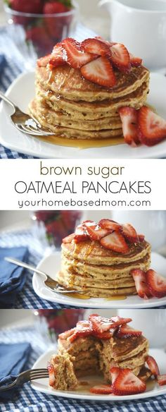 Brown Sugar Oatmeal Pancakes ~ fantastic for breakfast or dinner!