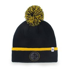 b1c81bdca33 Pittsburgh Steelers Baraka Cuff Knit Black 47 Brand Hat