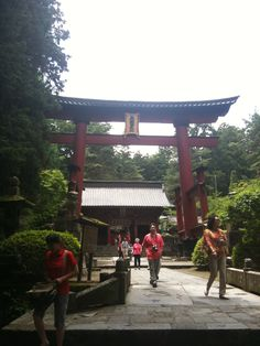 Torii of Sengen shrine at the foot of Mt.Fuji