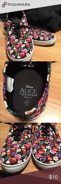 Disney ladies size 11 Alice in Wonderland shoes Disney ladies size 11 Alice in Wonderland tennis shoes - they look brand new! Disney Shoes Sneakers