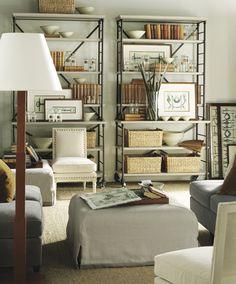 Hickory Chair Suzanne Kasler Prado Bookcase  Showroom Details: Henredon Interior Design Showroom