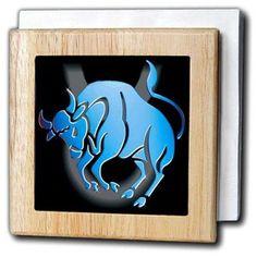 3dRose Taurus Zodiac Sign, Tile Napkin Holder, 6-inch
