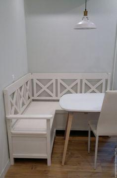Купить Скамья Ramen угловая - белый, скамья, скамейка, угловая скамья, мебель на кухню