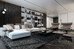 8 Living Room Interior Designs and Layout with Dramatic Dark Shades - RooHome | Designs & Plans