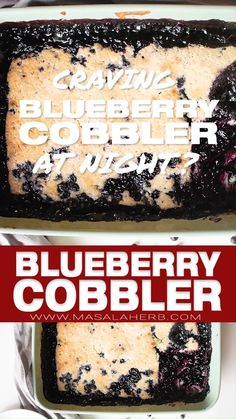 Easy blueberry cobbler prepared from scratch with fresh blueberries. I show you how to make your own cobbler, day or at night, with my how to video + photos Blueberry Cobbler Recipes, Fruit Cobbler, Blueberry Cobbler Bisquick, Blueberry Cobler, Easy Blueberry Desserts, Kid Desserts, Homemade Desserts, Delicious Desserts, Thanksgiving Desserts Easy