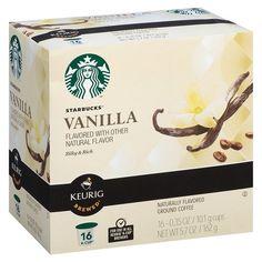 Starbucks Vanilla Coffee K-Cup pods 16ct
