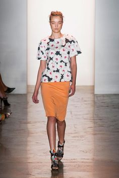 Peter Som Spring/Summer 2014 #nyfw #mbfw #springsummer #fashionweek #catwalk #runway #2014 #ss14 #model #fashionshow #fashion #petersom