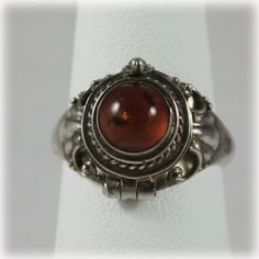 Vintage Baltic Amber and Sterling Silver by JunkboxTreasures