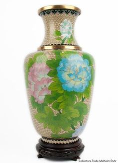 China 20. Jh. Große Chinese Cloisonne Enamel Baluster Vase - Vaso Cinese Chinois