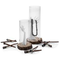 Etalage Decoratie Display - Boomschijf ca.25cm (216-742), 3,25 en 10 v 2,93 + glas 29,-