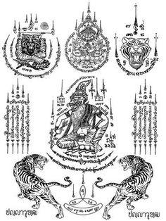 🔥 So What is a Sak Yant Tattoo?🔥 ✅ Sak Yants the Thai name . Tatuaje Khmer, Tatuagem Sak Yant, Cute Tattoos, Unique Tattoos, Small Tattoos, Tattoos For Guys, Rib Tattoos, Family Tattoos, Foot Tattoos