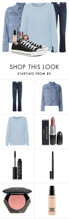 """S3E6"" by cheyleexox ❤ liked on Polyvore featuring Frame Denim, Filles à papa, M.Patmos, NARS Cosmetics, Anastasia Beverly Hills, H&M, MAC Cosmetics and Converse"