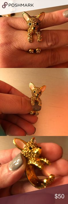 🆕listing. Kate spade ring So cute.  chihuahua ring.  Size 7. Never worn. kate spade Jewelry Rings