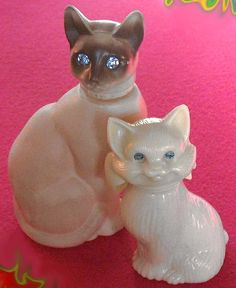 Vtg AVON CAT BOTTLE Lot SIAMESE Cotillion PERSIAN Sweet Honesty PERFUME
