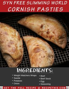 Syn Free Slimming World Cornish Pasties cooked in the Air Fryer and Instant Pot. Super easy to prepare and so addictive you will want to eat these Syn Free Cornish Pasties forever and ever. Slimming World Dinners, Slimming World Recipes Syn Free, Slimming World Diet, Slimming Eats, Slimming Workd, Slimming World Fakeaway, Slimming World Treats, Syn Free Snacks, Cornish Pasties