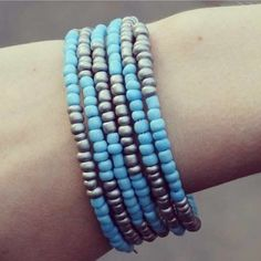 DIY Memory Wire Armband - Busy Beads
