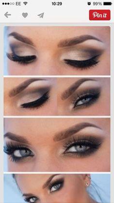 My go to eye make up // plus 20 makeup tutorials for blue eyes Pretty Makeup, Love Makeup, Makeup Inspo, Makeup Inspiration, Amazing Makeup, Makeup Geek, Blue Eye Makeup, Skin Makeup, Makeup Goals