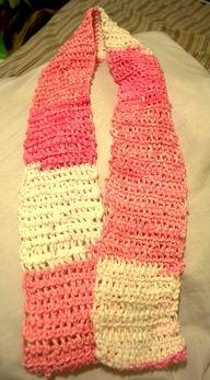 First Crocheted Scarf!  #crochet #craft #crafty