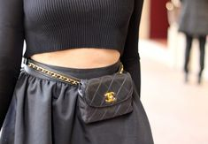 Love this Chanel fanny pack that @KatWalkSF is rockin' in Paris!