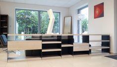 modular solid oak library LINK Solid Oak, Conference Room, Furniture Design, Divider, Link, Table, Home Decor, Decoration Home, Room Decor