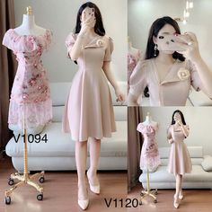 Modest Outfits, Fall Outfits, Pink Party Dresses, Korean Street Fashion, Bridesmaid Dresses, Wedding Dresses, Love Fashion, Fashion Dresses, Dresses For Work