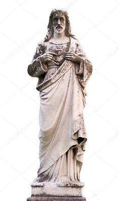 Statue Jesus Christ Isolated White Background - Stock Photo , #AFF, #Christ, #Isolated, #Statue, #Jesus #AD Jesus Christ Statue, Wonder Woman Logo, Dc Comics, Stock Photos, Dresses, Fashion, Vestidos, Moda, Gowns