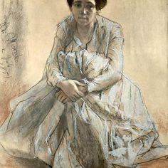 Adolf Menzel  - Portraet der Schwester des Kuenstlers        arts-galerie.de