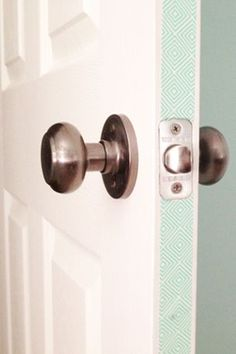 20 Washi Tape Ideas - Create a peek a boo pop of color in doorways.....sides of our barn door, perfect!