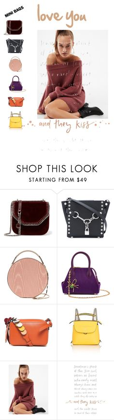"""mini bags maxi love"" by lolla-cher ❤ liked on Polyvore featuring STELLA McCARTNEY, Alexander Wang, Eddie Borgo, La Perla, Anya Hindmarch, Fendi and Express"