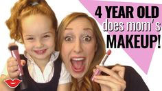 4-Year-Old Does Mom's Makeup   Jordan from Millennial Moms