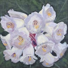 """Maria Levinge """"Rhododendron Falconerii"""" Oil on canvas board, x Maria Levinge is an Irish artist known for her small scale landscape and still life paintings. Irish Art, Canvas Board, Still Life, Oil On Canvas, Landscape, Gallery, Dublin, Artist, Christmas"""